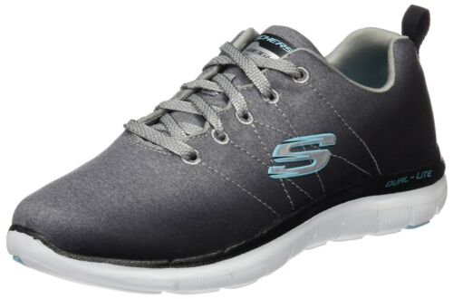 Chaussures 2 femmes de Noir pour 0 Appeal air Flex Skechers Uk 7 de Gris Multisport plein RrqwSR