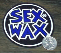 Blue Sex Wax Surf Sticker Mr Zogs Car Decal 3-1/2 Round Window Board Vinyl 9 Cm