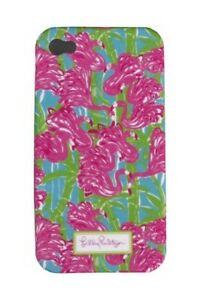LILLY-PULITZER-IPhone-4-4S-FAN-DANCE-Mobile-Cell-Phone-Cover-PINK-FLAMINGO