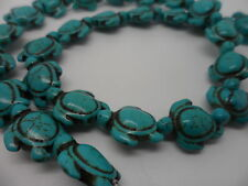 24 pieces of natural gemstone howlite, Tortoise,Turtle beads,charms 17x14mm