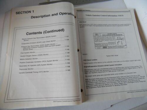 FCS-12106-08-A 2008 Ford Car Truck Powertrain Control Emissions D Service Manual