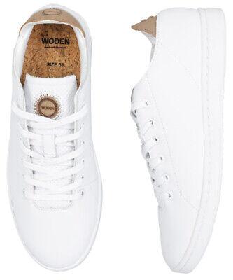 Woden Jane Leather Sneaker Damen Schuh Bright White | eBay