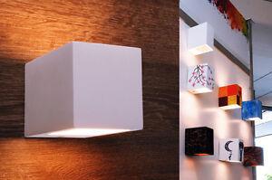 Applique gesso personalizzabile verniciabile cubo quadrato con