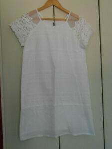 Petite Robe Blanche Legere Naf Naf T 38 Ebay