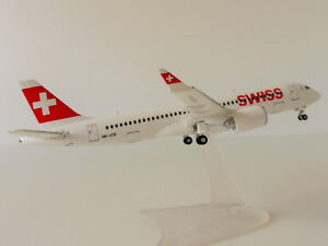 SWISS-BOMBARDIER-CS300-1-200-Herpa-558952-ZURICH-AirLines-HB-JCB-Swissair-CS-300