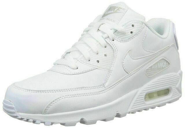 Nike 302519-113 Air Max 90 Leather Running Size US 8 Men's Sneakers - White