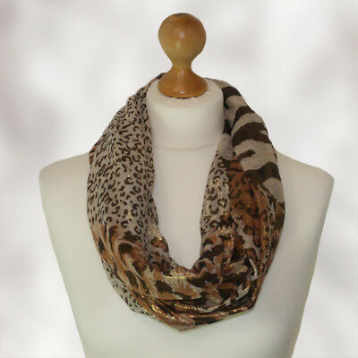GORGEOUS Ladies Cowl Neck infinity scarf round neck snood scarf FREE DELIVERY