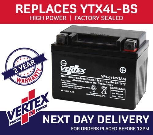 Quadzilla QZR 80 Vertex Battery VP4-3 Replaces YTX4L-BS