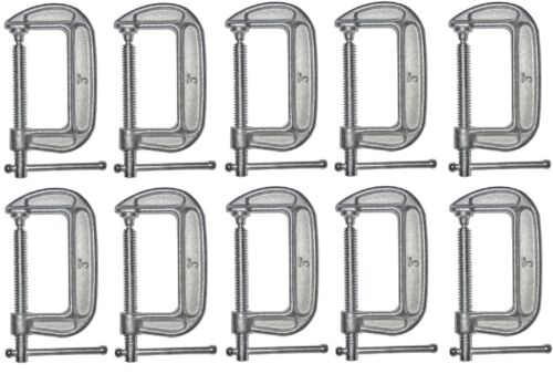 """10 ea Bessey Tools CM30 3/"""" Drop Forged  Galvanized C Clamps"""