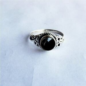 Black Onyx Ring 925 Sterling Silver Ring Handmade Ring Worry Ring All Size KA-49