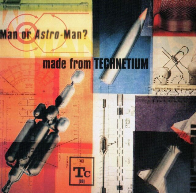 MAN OR ASTRO-MAN ? - MADE FROM TECHNETIUM CD (1997) US ALTERNATIVE / SPACE-PUNK