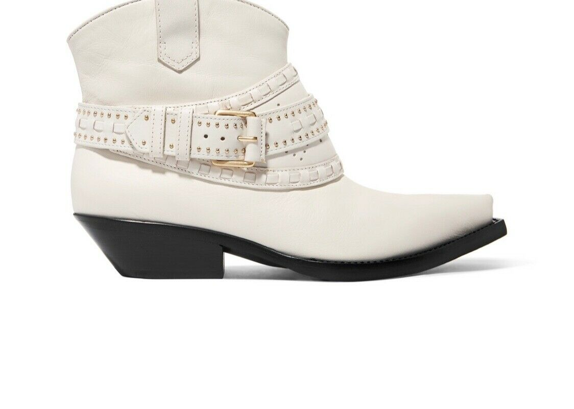 Zimmermann Cowboy démarrage   Ankle Ankle Ankle Cow Boy   blanc or Leather, Buckle  800 6908a5
