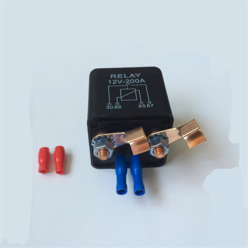 Set of Car Relay 12V Battery Switch For Automotive 2 x Terminal+2 x Footprint