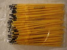 Lot 100 New Fishing Rod Building Epoxy Finishing Yellow Nylon Disposable Brushes