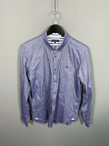 TED-BAKER-Shirt-Size-4-Large-Blue-Great-Condition-Men-s