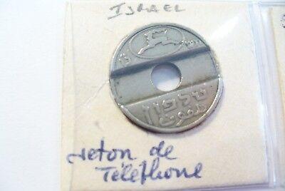 """Knap Monnaie """" IsraËl """" Jeton Telephone - Sous Étuis & Feuille / Superbe A Voir"""