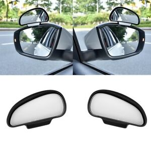 2PCS Adjustable Car Mirror Blind Spot Side Rear View Convex Wide Angle Parking D