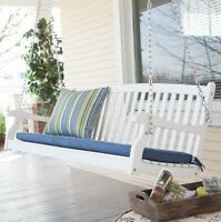 Coral Coast Porch Swings 4 Foot Wood Cottage Farmhouse Patio Outdoor Furniture