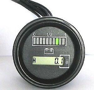 Adjustable Battery Gauge Indicator Meter 12 24 Volt For Curtis 803 Type Generic Ebay
