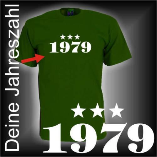 Wunschzahl tes Année Anniversaire Fun T-Shirt Cadeau Funshirt fsg047