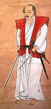 Japonés Guerrero Samurai Miyamoto Musashi Autorretrato Espada 7x3 pulgadas impresión
