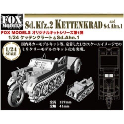 Fox Models 1 24 Sd.kfz.2 KettenKrad and Sd.Anh.1 Resin Cast Kit