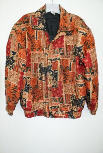 Womens Fuda International Silk Jacket Multi-Color