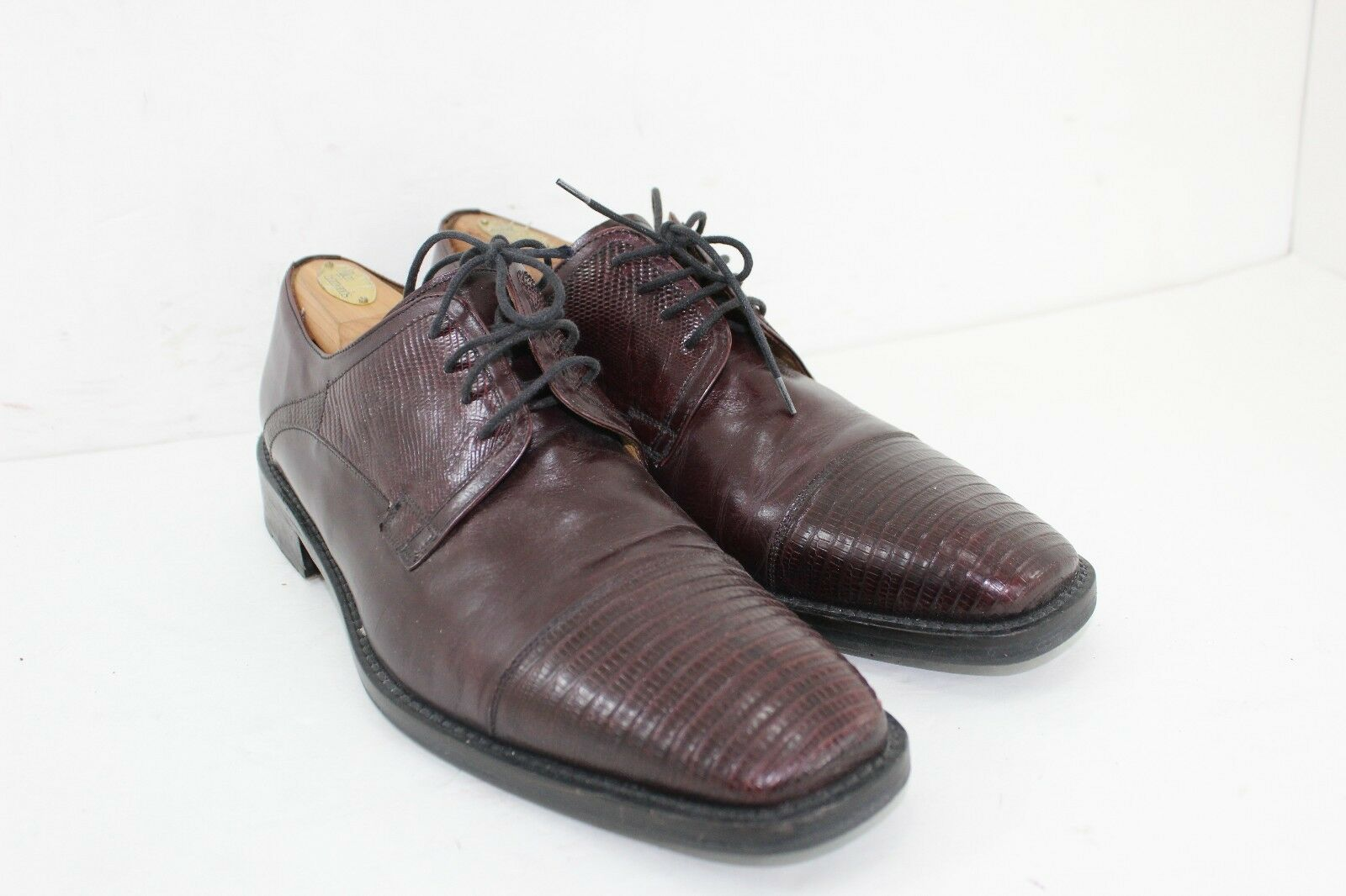 AVVENTURA HANDMADE IN SPAIN GENUINE LIZARD SKIN SIZE 10 BROWNS BROWNS BROWNS IN GREAT CONDITIO 457634