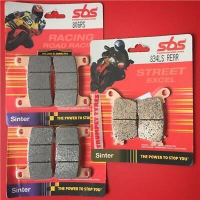 CBR 1000RR FIREBLADE 06 /> 08 Front /& Rear Brake Pads SBS RACE SINTER 809RS 834LS