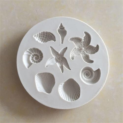 Ocean biologique Conch Sea Shells gâteau au chocolat moule en silicone cuisine outils RS