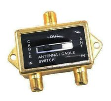 VIDEO COAXIAL A/B SWITCH ANTENNA / CABLE / CATV / LCD TV GOLD PLATED