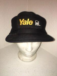9faebbe51e7 Image is loading Yale-Forklift-Mesh-Trucker-Adjustable-Baseball-Hat-Cap-