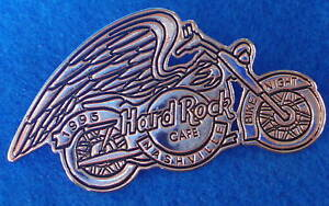 Nashville-Plata-Bicicleta-Nite-Angel-Alas-Spirit-Motocicleta-Hard-Rock-Cafe-Pin