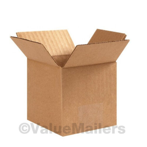 100 6x5x5 Cardboard Shipping Boxes Cartons Packing Moving Mailing Box