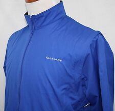 Embroidered CANARI BIOVENT Cycling Jacket Full Zip Blue Small SEE PHOTOS!