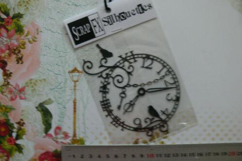 CHIPBOARD Mixed CLOCK HANDS /& ORNATE Clock SILHOUETTE x 3Style Choice Scrap FX T