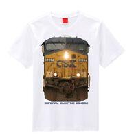 Csx Head On Ge Es40dc Train T-shirts