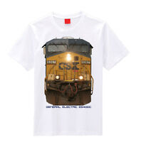 Csx Head On Ge Es40dc Train T-shirts