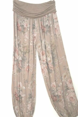 Italy Confortable Yoga Pantalon Pluderhose roses Aladinhose 38 40 42 44 NOUVEAU