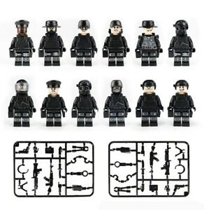 Custom-Police-SWAT-Minifigures-Set-Guns-Soldiers-Police-Military-Army-amp-Weapons