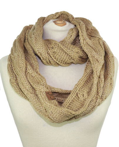 CC Scarf Soft Chunky Warm Pullover Knit Long Loop Infinity Hood Cowl Scarf NEW