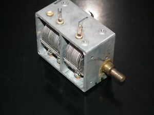 AIR VARIABLE CAPACITOR 440pF + 490pF for MW SW Tube radio receivers