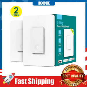 Pole/3-way WiFi Smart Light Switch Remote Control No Hub Required