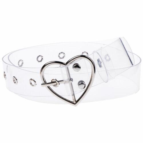 Women Transparent Wide Belt Pin Belt Buckle Invisible Clear Waist Belt Fashion