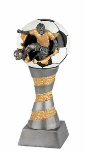 Massiver-3D-Pokal-034-Action-Fussballer-034-FG-200-2-29-11cm-inkl-Gravur-25-95-EUR