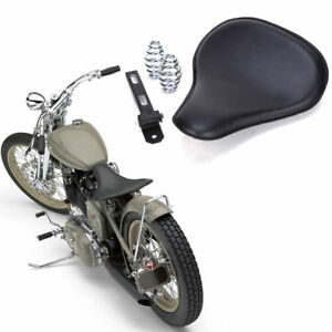 Motorcycle Parts Custom Bobber Motorcycle Solo Seat Leather For