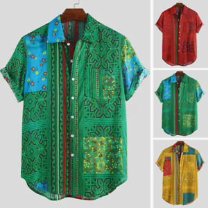 2019-Moda-ropa-de-impresion-africanos-Para-hombres-Mangas-Cortas-Camisa-Prenda-para-el-torso-Blusa