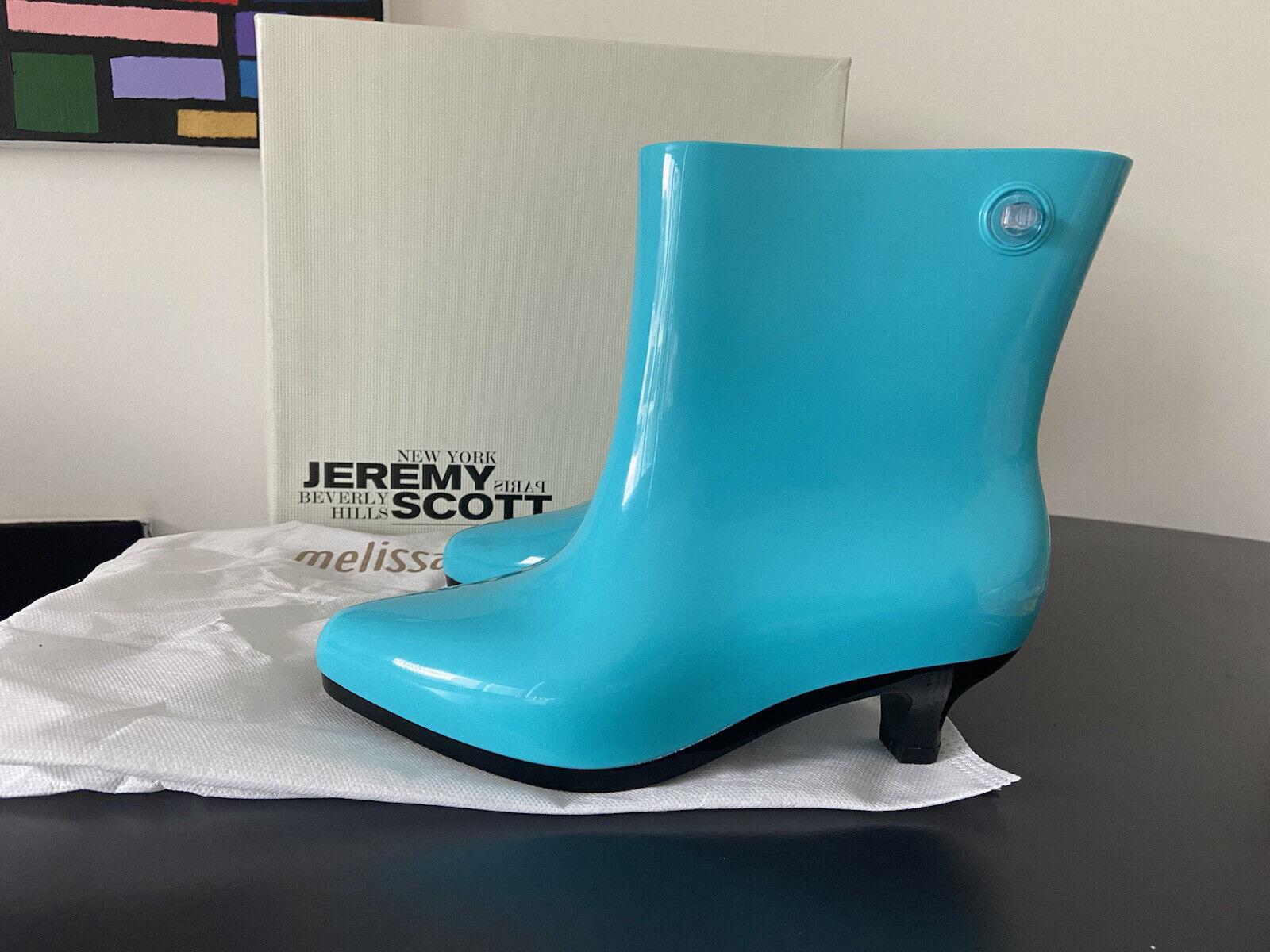 Melissa x Jeremy Scott Spring 2016 size 35/36 EU 5 US turquoise Ankle boot NEW