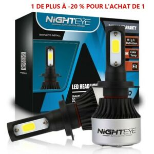 2X-H7-LED-Voiture-Ampoules-72W-9000LM-Feux-Phare-Lampe-Kit-Blanc-HIC-Nighteye-BM
