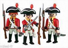 PLAYMOBIL lot 3 figurines Soldats Anglais Britannique NEUF sous blister Ref.6229